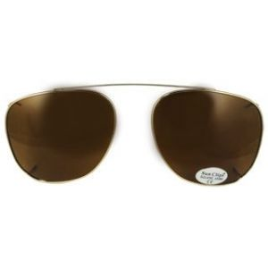 Square Clip On Gold/Polarized Brown