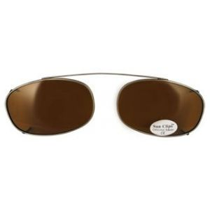 Oblong Clip OnPewter/Polarized Brown