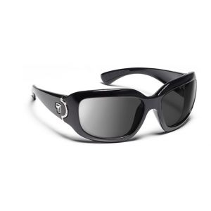 7Eye by Panoptx Leveche Glossy Black/SharpView Gray Prescription Sunglasses