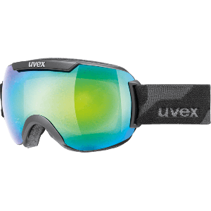 Uvex Downhill 2000 Black Mat Litemirror Green