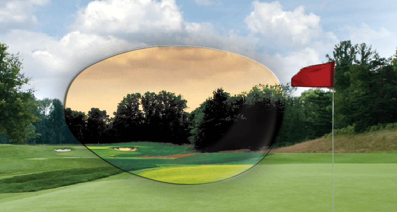 Bolle V3 Golf Lens simulation