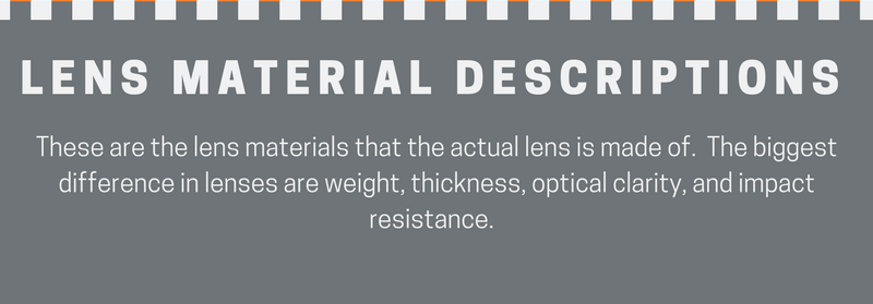 Prescription Lens options