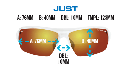Sizing for Tifosi Just sunglasses